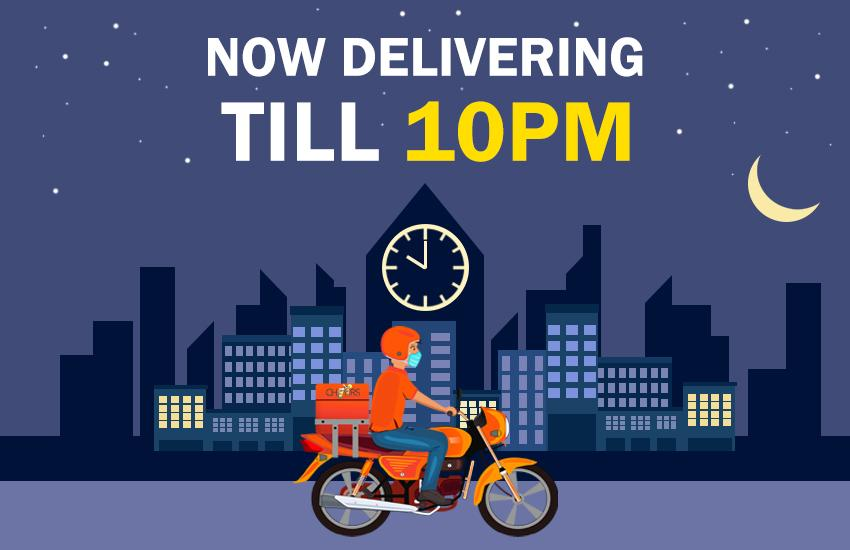 Now Delivering Till 10PM